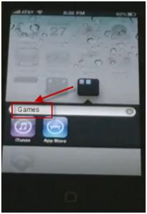 creating folder in iphone