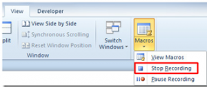 54 300x127 How to record macros in Microsoft Word 2010
