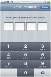 iphone parental control