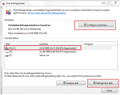 22 How to use defragmentation tool in windows 7
