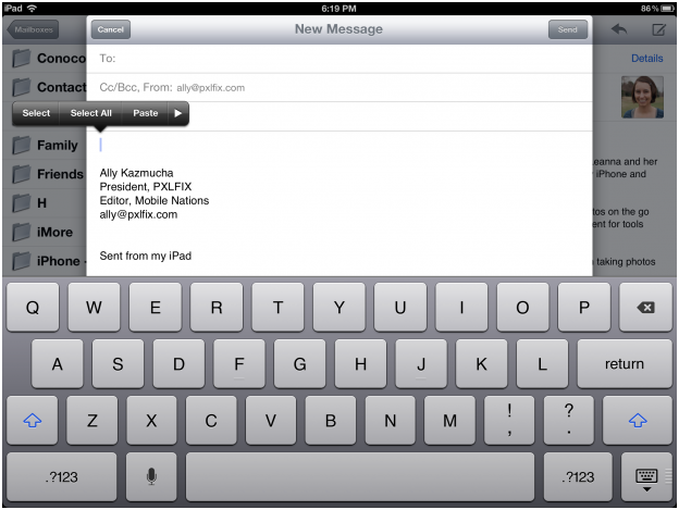 114 How to copy, paste, and perform basic text editing on your iPad 3
