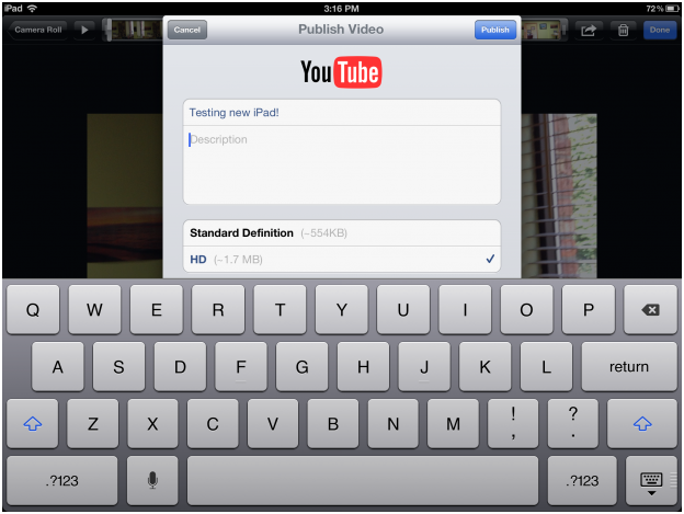 119 How to post a video to YouTube or Facebook from iPad 3