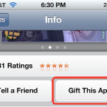 How to gift an iPhone app or iPad app