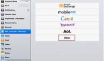 Email through iPad 3