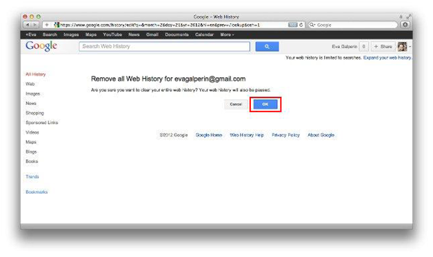 How to Delete Your Entire Search History (Plus Other Stuff)