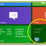 How to get the old control panel into a new metro startup screen in windows 8