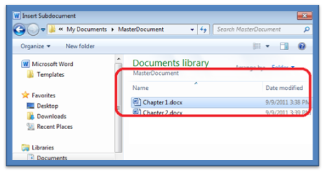 1215 How to Create a Master Document in Microsoft Word 2010