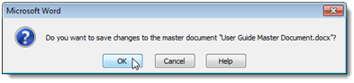 1512 How to Create a Master Document in Microsoft Word 2010