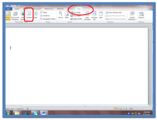 188 How to Create a Master Document in Microsoft Word 2010