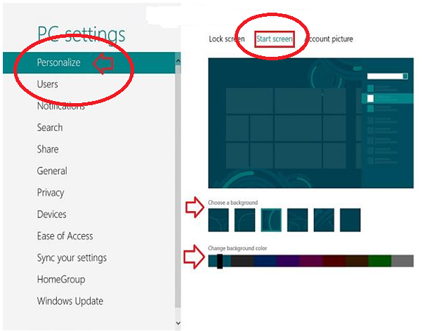 22 How to Change Metro Screen Background and Color in Windows 8