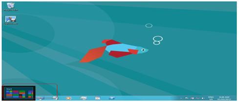 windows taskbar not showing when cursor at bottom fullscreen application