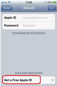 how to set up an apple account