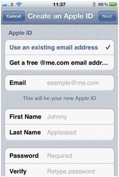How to set up a free Apple ID account for iCloud and iOS 5