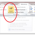 How to Use Footnote in Microsoft Word 2010