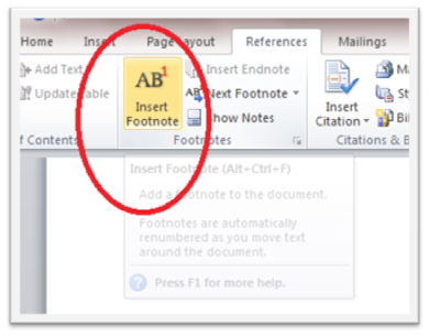 115 How to Use Footnote in Microsoft Word 2010