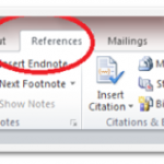How to Use Reference Feature in Microsoft Word 2010