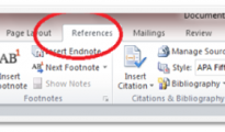 Microsoft word 2010 reference feature