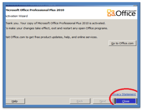 office 2010 cannot change product key