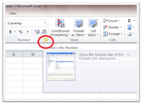 How To Deal With Currency Values In Excel 2010 Information