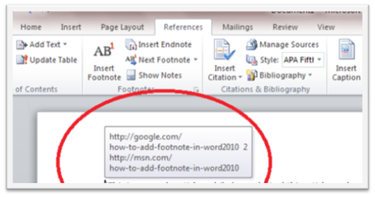 48 How to Use Footnote in Microsoft Word 2010