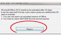 Extending Trial Period of office 2010