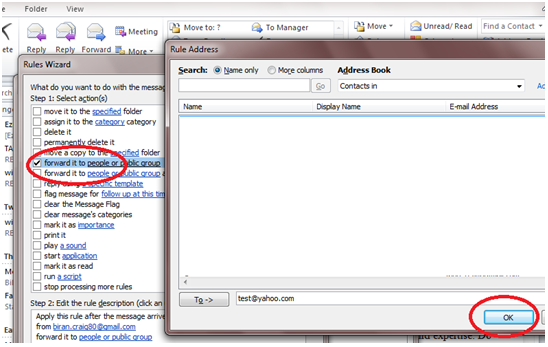 622 How to Enable Auto Email Forward Messages Rule in Outlook 2010