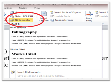 How to Use Reference Feature in Microsoft Word