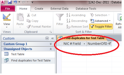 721 How to Create a Query in Microsoft Access 2010 to Find Duplicate Entries in a Table