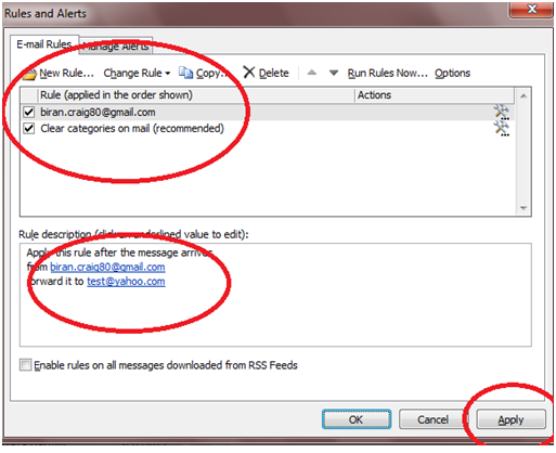 816 How to Enable Auto Email Forward Messages Rule in Outlook 2010
