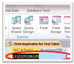 817 How to Create a Query in Microsoft Access 2010 to Find Duplicate Entries in a Table