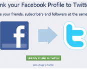 Publishing tweets to facebook page and vice versa