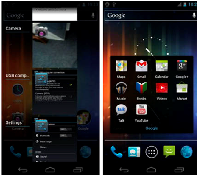 32 A Comparison Of Android Gingerbread, Honeycomb, Ice Cream Sandwich And Jelly Bean